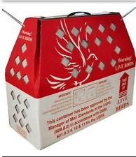 2 Horizon Shipping Boxes for Live Birds 2 Singles Chicken Poultry SHIPS FAST