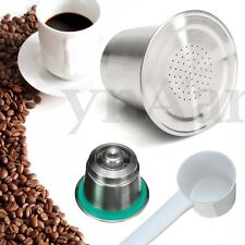 Reusable Refillable Coffee Capsule Pod Steel Lid For Nespresso Pixie Citiz Maker