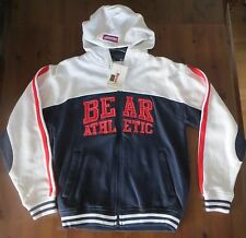 BNWT! Kids BEAR USA Zip Up ATHLETIC HOODIE JACKET TOP Blue White SIZE LARGE BOYS