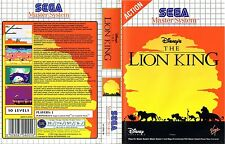 Lion King Sega Master System Replacement Box Art Case Insert Cover Scan Repro.