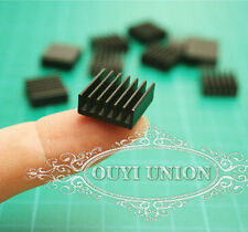 LOT 8PC 14*14*6mm mini Black Aluminum Heat Sink Chip For IC LED Power Transistor