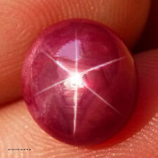 5.22 ct.  100%NATURAL 6 RAYS TOP BLOOD RED STAR RUBY MADAGASCAR NR!