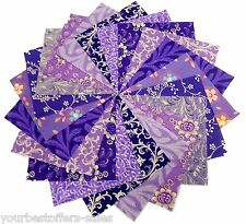 Purple Quilting Fabric Charm Packs Quilting Fabric Squares Quilting Accessories