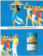 PUBLICITE ADVERTISING 095  1990  ORANGINA  LIGHT  soda