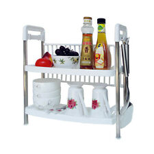 Kawachi Multifunctional Two Layers Kitchen Storage Rack Shelf of plastic K152