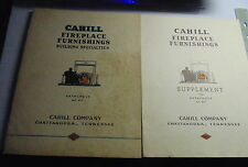 Cahill Fireplace Furnishings Building Specialties Catalog + Supplement 1920s