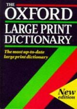 The Oxford Large Print Dictionary-ExLibrary
