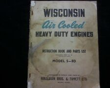 Wisconsin S-8D Stationary engine OWNERS Workshop Service parts manual book