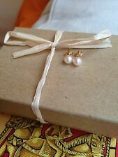 Vintage Mikimoto 5mm Pearl Stud Earrings Made from Authentic Mikimoto Pearls 14k