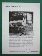 1980'S PUB MERCEDES-BENZ TOUT TERRAIN 4X4 UNIMOG MILITARY VEHICLE ORIGINAL AD