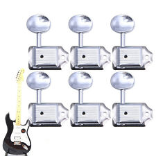 6 In Line Nickel Vintage Fender Style Machine Heads Tuning Pegs For Strat Hot