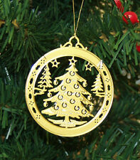 Personalized Christmas Tree High Polished Brass Christmas Ornament Custom Gift