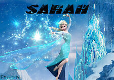 FROZEN,ELSA ICE QUEEN,DISNEY IRON ON TRANSFERS PERSONALISED  FOR T SHIRTS,