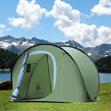 Gazelle Outdoors Camping Hiking Easy Setup Family Pop Up Instant Tent Army Green