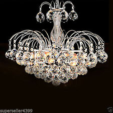 Elegant 3 Light Crystal Chandelier Drop Lighting Pendant Lamp Ceiling Fixture