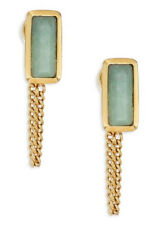 Michael Kors MKJ5818 Urban Rush Green Jade Drape Chain Gold-Tone Stud Earrings