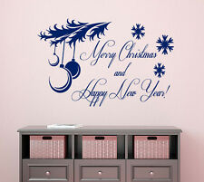 Happy New Year Wall Decal Quote Merry Christmas Vinyl Stickers Bedding Decor KI7