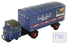 76MH004 Oxford Diecast 1:76 Scale OO Gauge LNER Mechanical Horse Van Trailer