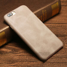 Luxury Ultra-thin PU Leather Back Skin Case Cover For Apple iPhone 7 Plus Gray