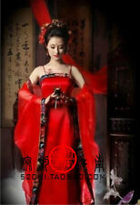 New Chinese Ancient Tang Traditional Infanta Dramaturgic Costume Robe Dress Red