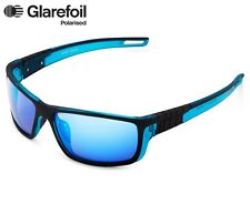 New GLAREFOIL By POLAROID Men's Keary Polarised Mirror Rubber Sunglasses Sports