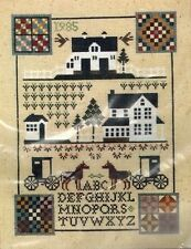 Bucilla Sunshine Shadow Amish Sampler Counted Cross Stitch Kit Prairie Schooler