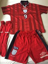 VINTAGE ENGLAND SHEARER AWAY FOOTBALL KIT FRANCE 98 1998 SIZE XXL RARE