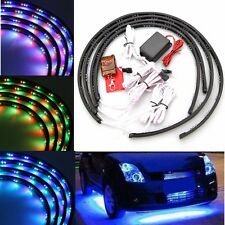 Car 7 Colors LED Under Car Glow Underbody System Neon Lights Strip Kit Remote