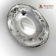 Mermaid On The Waves Oval Tray International Sterling Silver 1900