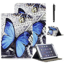"""Butterfly Universal Folio Leather Case Cover For 7"""" 7.0"""" Android Tablet W/ Gift"""