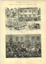 1881 Jottings At Hull Procession Of Foresters And Druids