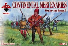Redbox 72042 Continental Mercenarios-Guerra De Las Rosas men-at-arms (3) 1/72