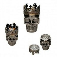KING SKULL HERB GRINDER,3 PART SHARK TEETH GRINDER BRAND NEW RANDOM COLOUR