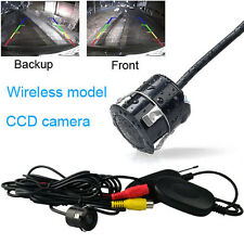 Wireless CCD 170° Front&Back Car Rear View Forward Camera Reverse Backup Parking