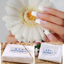NEW 900Pcs Nail Art Wipes Lint Cleaner Paper Pad Acrylic Gel Polish Tips Remover