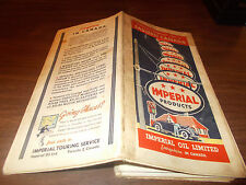 1936 Imperial Oil Eastern Canada Vintage Road Map