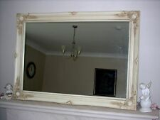 "IVORY CREAM EXTRA LARGE WALL MIRROR - 30"" x 42"" (75cm x 105cm) - Superb Quality"