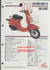 Honda ND50M Melody DeLuxe (1982) Data Sheet/Brochure ND50,ND 50 M,Scooterette