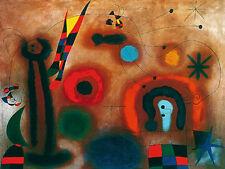 Joan Miro Libelle mit roten Fluegeln Poster Kunstdruck Bild 60x80cm - Portofrei