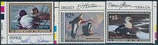 #RW56-58 XF OG NH SIGNED BY ARTISTS N.R. ANDERSON, J. HAUTMAN, N. HOWE BR8065
