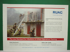 10/2007 PUB RUAG AEROSPACE DEFENCE SUISSE SWITZERLAND ARMY URBAN TRAINING ADVERT