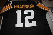 PITTSBURGH STEELERS #12 TERRY BRADSHAW CUSTOM JERSEY SB MVP HOF 1989