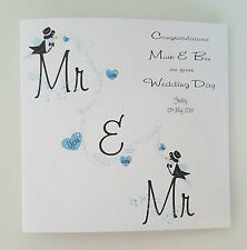 Personalised Wedding Card Civil Partnership Same Sex Gay Marriage **Any Colour**