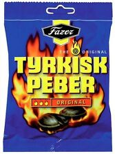 TYRKISK PEBER (Turkish Pepper) candy x 24 bags 150g FAZER Finland *BEST VALUE