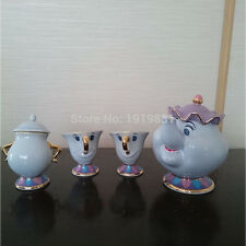 Beauty And The Beast Tea Set [1 Pot +2 Cups +1 Sugar Bowl ] Mrs Potts Chip Gift