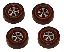 4 Brightvision Redline Wheels - 4 Large Cap Deep Dish Dull Chrome Style