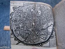 1660 CITY ATLAS MAPS Illustrated FOLD OUT PLATES Belgium GERMANY Deutschland BOX