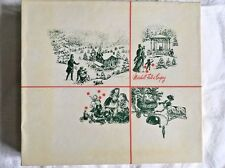 Vintage 1971 Marshall Fields Christmas Antique Village Scenes Gift Box