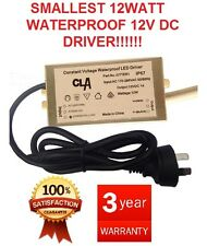 CLA 12W Constant Voltage LED Driver for LED STRIPS DOWNLIGHTS 12V DC 3 YEAR WAR