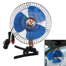 "Portable 12V 8"" Car Oscillating Cooling Fan with Clip Switch Outdoor Camping"